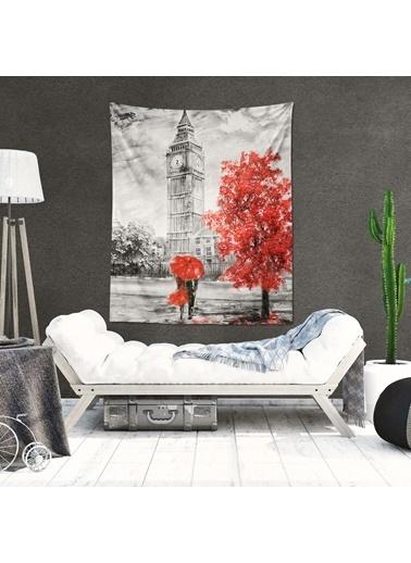 Eponj Home Tapestry Duvar Örtüsü 120x145 cm Umbrella Kırmızı Kırmızı